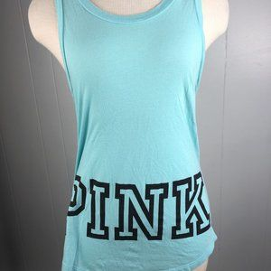 "PINK Victoria Secret Blue Tank Top Size XS ""M"""